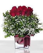 Ankara Anadolu çiçek , çiçekçi , çiçekçilik  11 adet gül mika yada cam - anneler günü seçimi -
