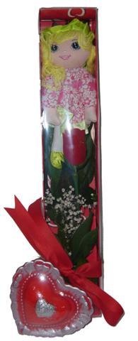 Ankara Anadolu çiçek siparişi vermek  kutu içinde 1 adet gül oyuncak ve mum