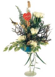 Ankara Anadolu çiçek gönderme sitemiz güvenlidir  kadeh içerisinde görsel gül tanzimi