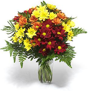 Ankara Anadolu çiçek siparişi sitesi  Karisik çiçeklerden mevsim vazosu