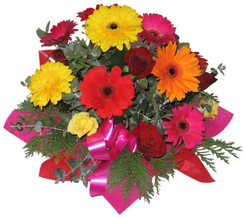 Karisik mevsim çiçeklerinden buket  Ankara Anadolu hediye sevgilime hediye çiçek