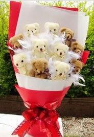 11 adet ayi buketi en güzel hediye  Ankara Anadolu uluslararası çiçek gönderme