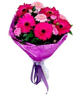 Ankara Anadolu çiçek siparişi sitesi  karışık gerbera çiçeği buketi