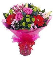 Karışık mevsim çiçekleri demeti  Ankara Anadolu online çiçek gönderme sipariş