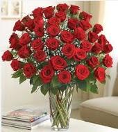 Cam vazoda 51 kırmızı gül süper indirimde  Ankara Anadolu uluslararası çiçek gönderme