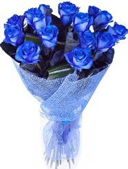 9 adet mavi gülden buket çiçeği  Ankara Anadolu hediye çiçek yolla