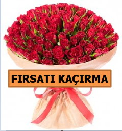 SON 1 GÜN İTHAL BÜYÜKBAŞ GÜL 101 ADET  Ankara Anadolu internetten çiçek satışı