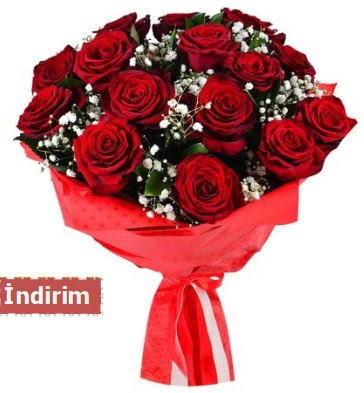 12 Adet kırmızı aşk gülleri  Ankara Anadolu çiçek satışı
