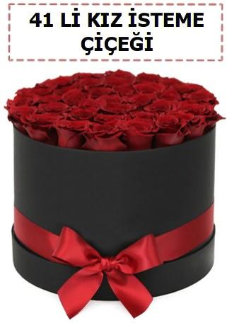 41 li kız isteme kutuda çiçek  Ankara Anadolu ucuz çiçek gönder