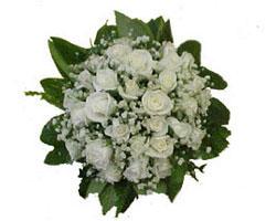 Beyaz güllerden gelin eli