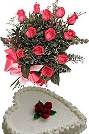 Ankara Anadolu ucuz çiçek gönder  Yas pasta ve özel gül buketi