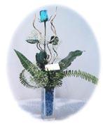 Ankara Anadolu çiçek online çiçek siparişi  Kalite mika yada cam vazo mavi gül tanzim
