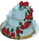 Ankara Anadolu anneler günü çiçek yolla  3 katli güllerle süslü pasta