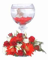 Ankara Anadolu 14 şubat sevgililer günü çiçek  Kadehte estetik aranjman