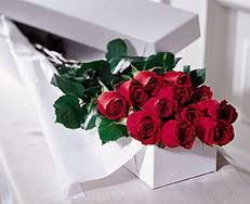 Ankara Anadolu çiçek satışı  özel kutuda 12 adet gül