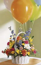 Ankara Anadolu çiçek siparişi vermek  Mevsim çiçekleri sepeti balon hediye