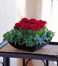 Ankara Anadolu çiçek siparişi sitesi  10 adet kare mika yada cam vazoda gül tanzim