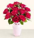 Ankara Anadolu hediye çiçek yolla  10 kirmizi gül cam yada mika vazo tanzim