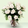 Ankara Anadolu anneler günü çiçek yolla  beyaz güller cam yada mika vazo