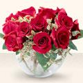 Ankara Anadolu çiçek online çiçek siparişi  mika yada cam içerisinde 10 gül - sevenler için ideal seçim -