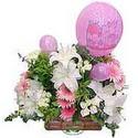 balon ve çiçeklerle tanzim  Ankara Anadolu internetten çiçek satışı