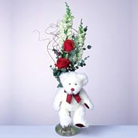 2 adet gül ve panda özel  Ankara Anadolu çiçekçi mağazası