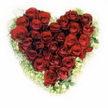 kalp biçiminde 15 gülden   Ankara Anadolu güvenli kaliteli hızlı çiçek