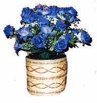 yapay mavi çiçek sepeti  Ankara Anadolu cicekciler , cicek siparisi