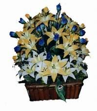 yapay karisik çiçek sepeti   Ankara Anadolu çiçek gönderme