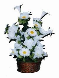 yapay karisik çiçek sepeti  Ankara Anadolu çiçek siparişi vermek