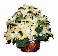 yapay karisik çiçek sepeti   Ankara Anadolu çiçek siparişi sitesi