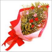12 adet renkli  gül buketi   Ankara Anadolu çiçekçi mağazası