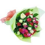 12 adet renkli gül buketi   Ankara Anadolu çiçek gönderme sitemiz güvenlidir