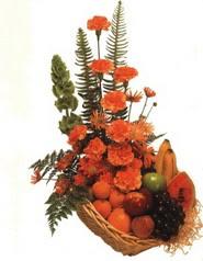 sepet kir çiçekleri meyva   Ankara Anadolu çiçek gönderme