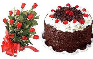 Ankara Anadolu internetten çiçek satışı  12 ADET KIRMIZI GÜL BUKET VE YASPASTA