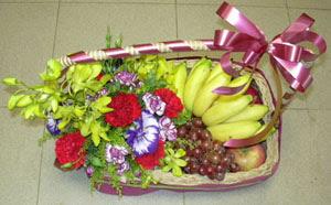 Ankara Anadolu internetten çiçek satışı  SEPET IÇERISINDE MEVSIM MEYVALARI