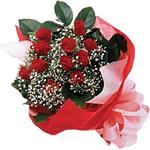 Ankara Anadolu internetten çiçek satışı  KIRMIZI AMBALAJ BUKETINDE 12 ADET GÜL
