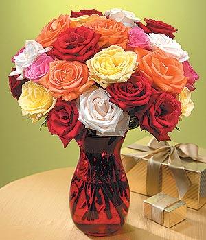 Ankara Anadolu anneler günü çiçek yolla  13 adet renkli gül