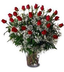 Ankara Anadolu çiçek siparişi sitesi  Cam yada mika vazo içerisinde 15 adet kirmizi güller,cipsofi