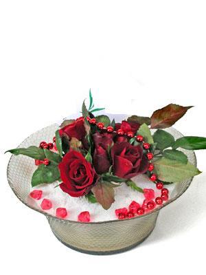 Ankara Anadolu çiçek siparişi vermek  EN ÇOK Sevenlere 7 adet kirmizi gül mika yada cam tanzim