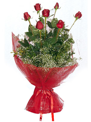 Ankara Anadolu çiçek servisi , çiçekçi adresleri  7 adet gülden buket görsel sik sadelik