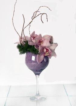 Ankara Anadolu online çiçek gönderme sipariş  cam içerisinde 3 adet kandil orkide