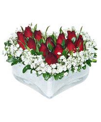Ankara Anadolu internetten çiçek siparişi  mika kalp içerisinde 9 adet kirmizi gül