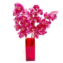 Ankara Anadolu ucuz çiçek gönder  Cam yada mika vazo içerisinde 3 adet dal orkide