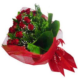 Ankara Anadolu kaliteli taze ve ucuz çiçekler  12 adet kirmizi essiz gül buketi - SEVENE ÖZEL