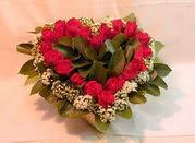 Ankara Anadolu çiçekçiler  Kalp seklinde hazirlanmis gül tanzimi