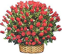 Ankara Anadolu çiçek yolla , çiçek gönder , çiçekçi   51 adet kirmizi gül sepet içerisinde