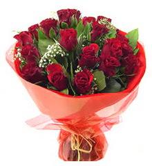 Ankara Anadolu anneler günü çiçek yolla  11 adet kimizi gülün ihtisami buket modeli