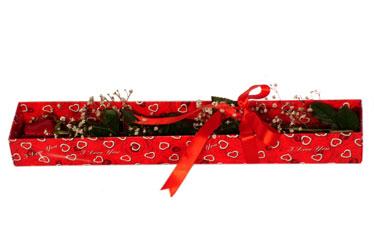 Ankara Anadolu çiçekçi telefonları  kutu içerisinde 1 adet kirmizi gül