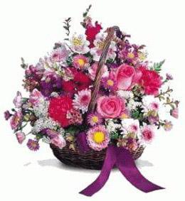 Ankara Anadolu çiçek gönderme sitemiz güvenlidir  Karisik kir çiçeklerinden sepet tanzimi